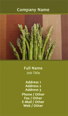Asparagus Business Card Template